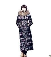 2014 maxi long white down jacket,luxury raccoon fur collar hooded down coat,flower down outerwear,S-2XL