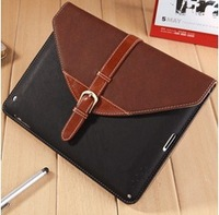 Luxury Flip Buckle Knot Belts Stand Detachable Leather Cases Briefcase Smart Cover For Apple Ipad mini 2 3 4 5 Air Handbag 08115