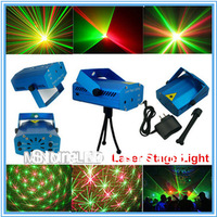 Free Shipping 150MW Mini Green & Red Disco DJ Party Stage Light Partterns Projector with Tripod Laser Stage Effect Lighting