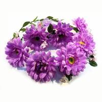 Multicolor Bridal Garland With Bracelet Flower Girl Flower Wedding Wreath Rose Bride Accessory Artificial HC301
