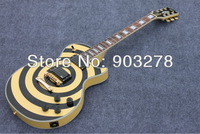 HOT SELL Guitar Zakk Wylde Bullseye black+yellow style Electric GuitarCST12 with free shipping