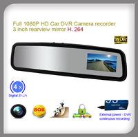 3inch car rearview mirror full hd 1080p mini dvr camera event recorder motion detection G-sensor
