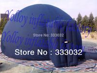 HIGH QUALITY 4m diameter portable inflatable planetarium dome tent Blue