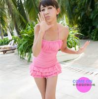 One-Piece Swim Wear Dress Swimwear W5089