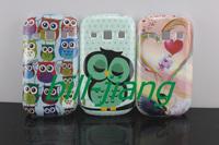 Good quality Cartoon Cute love Swan Owl Bird design Hard Back Cover Case for SAMSUNG GALAXY FAME S6810 s6812
