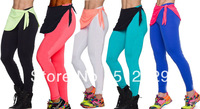 2013 High Waist Candy Colours Solid Leggings Women's Sports Pants Fashion Elastic Strtched Yogo Fitness Gym Leggings