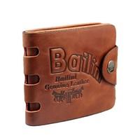 Promotion!Genuine Leather Wallet Male Short design Hasp Wallet Print Cowhide Male Vintage Purse Casual D1102-92