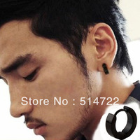 1pair A Single Cool Style Titanium Steel Men Hoop Earring Fashion Jewelry hot selling