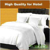Linen white satin 60 piece bedding set plain bedding