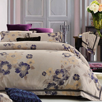 Bedding 60 100% cotton satin jacquard four piece set 100% cotton bedding