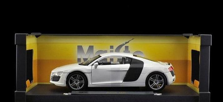 Maisto1: 18 Audi R8 white alloy car models distinguished series(China (Mainland))