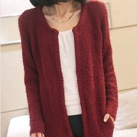 New Fashion knitting MY-008 2013 winter sweater women cardigan Black & White Checker clothes wholesale and retail FREE SHIPPING