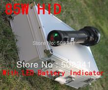 85W HID Flashlight with Panasonic 9300mah battery add LED battery indicator(China (Mainland))