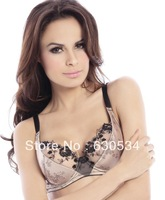 Brand:DINISEE.DNS.Flowers Print Lace Push Up Sexy Bra Set (Bra+Panties) For Female With Double Breasted.Free Shipping
