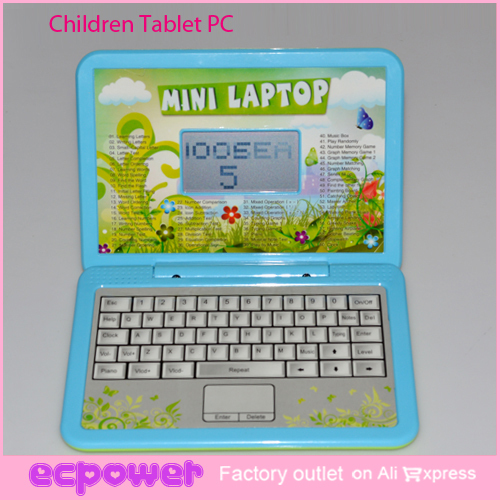 LCD English Learning Machine Mini Laptap Early Education Children Tablet PC Toy 1set Free Shipping(China (Mainland))
