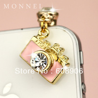 IP13 Hot Sale Pink Camera Anti Dust Plug Cover Charm Phone Strap