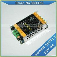 12pcs/LOT 12v 5a switching power supply 60w POWER adapter transformer ac100-240v to dc12v #12125
