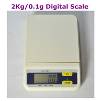 Christmas  2kg/0.1g Electronic Weighing Balance Scale Digital kitchen Scale Parcel Scale Free Shipping