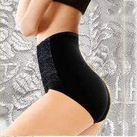 Women Modal High Waist Sexy Lace Belly in Carry Buttock Briefs Underwear PDH