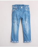 New arrival autumn female child laciness jeans skinny girls demin jeans long pants