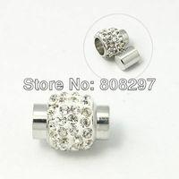 50set White Clay Rhinestone Glue Magnetic Clasp for Bracelet