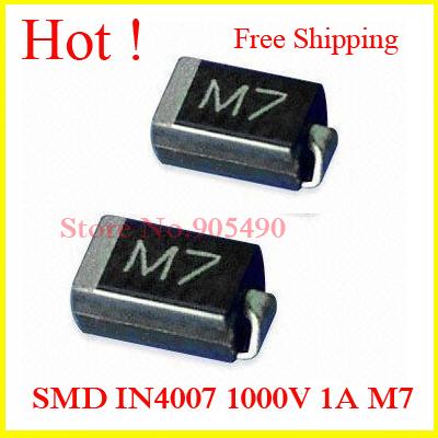 M7 Diode 1N4007 SMD diodes SMD IN4007 1000V 1A M7 SMA DO 214AC SMD ...