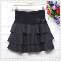 2013 woolen woolen skirt tutu skirt Korean version was thin waist woolen skirts skirts Winter skirts