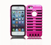 Fashion Luxury Hybrid Plastic Silicone Pouch Case Cover For Apple iphone 5 5S