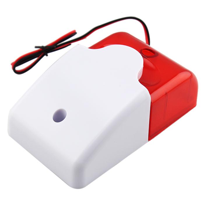 New Fashion 12V Wired Sound Alarm Strobe Flashing Light Siren Home Security System(China (Mainland))