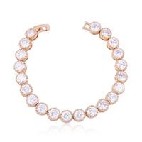 Luxury beautiful lady birthday  wedding gifts, plating 18 kt AAA zircon bracelets L88101