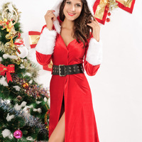 Fashion winter new arrival Christmas long sleeve length women's Costumes christmas Uniform