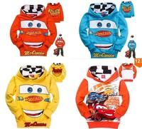 New design fashion children's spring autumn cute design cars pullover hooded sweatshirt jacket kids toddler boys hoodies