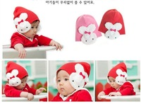 Warm baby Girls rabbit  bunny ears hat beanie Infant Kids Headdress for spring autumn winter