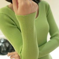 2013 winter long-sleeve Women's basic shirt  slim sweater thickening knitted sweater outerwear for women