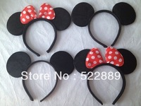 Children's party supplies, girl Hard hair bands for Mickey mouse birthday party,mickey mouse headband for Photography