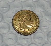 1865 France Gold 20 Francs COIN COPY FREE SHIPPING