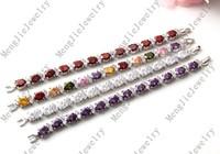 Luxury beautiful lady birthday wedding gifts, plating 18 kt AAA cubic zirconia bracelet shamballa bracelet