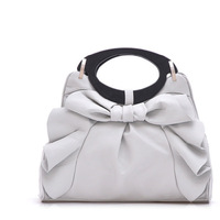 2013 new fashion Korean style woman bag flouncing bow Women's Handbags high quality tote bag, Free Shipping, wholesale, T205