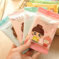 300 packs/lot  wet wipe wet tissue clean skin cleansing unoil moisturizing cotton pad