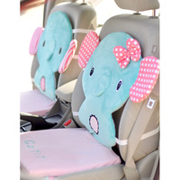 Circus mint green circleof plush material cartoon cushion car mats