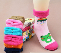 Baby 100% cotton socks baby autumn and winter socks children socks laciness towel ring thickening cotton socks