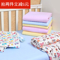Baby waterproof 100% cotton baby changing mat nursing pad 60 70