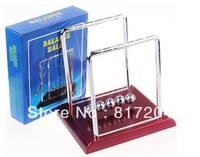 Retail 1 pcs Newton Cradle Balance Balls Educational physical teaching toys Free Shipping Large Size:18cm*15cm*18cm