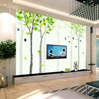 art wall stickers art wall stickers Mural abstract green 3d three-dimensional wallpaper tv natural