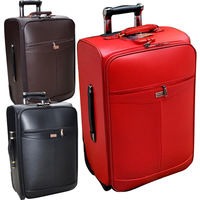 Free shipping 2013 fashion women and men red married box trolley luggage suitcase, 20 and 24 inches, coffee, red and black color