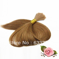 "14""-28"" #12 Light Brown Virgin Brazilian Human Hair Bulk 100g/pc Bundle Cheap Wholesale Price High Quality Ontime Delivery"