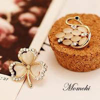 Four leaf clover brooch female shirt collar pins collar clip quality brooch female silk scarf buckle corsage pin