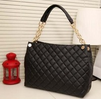 Christmas gifts large retro fashion Quilted chain Korean new women's casual shoulder bag tote handbags Free Shipping