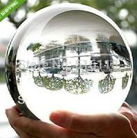 free hipping 80mm+Stand Asian Rare Natural Quartz Clear Magic Crystal Healing Ball Sphere