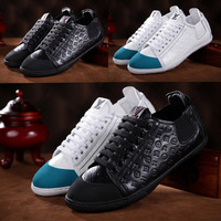 The new men's / embossed leather casual comfort sheepskin lining / black Prynne breathable Skateboarding Shoes  Sneakers